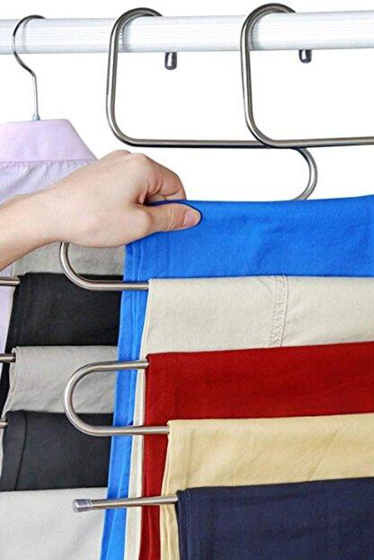 HAYATINIZI KOLAYLAŞTIRIN 5 Katlı Metal Pantolon Eşarp Askısı EV.03116.00