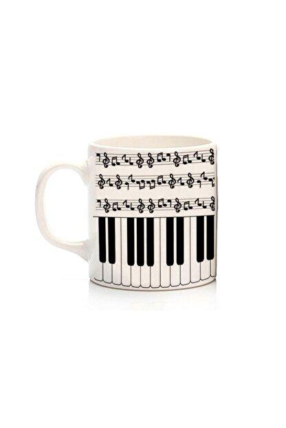 Köstebek Notalı Ve Piyano Desenli Kupa