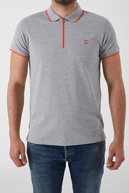Ltb Erkek  Gri Polo Yaka T-Shirt 0122084075609440000