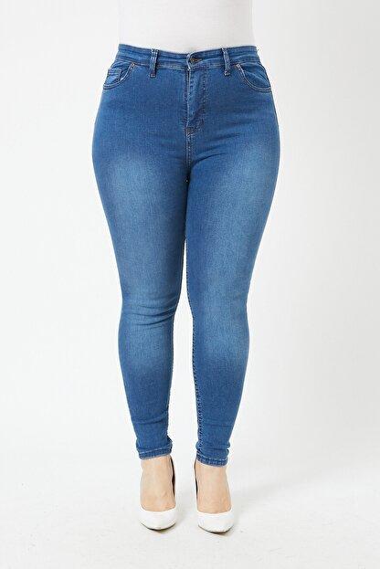 VAV Kadın Büyük Beden Dar Paça Kot Pantolon