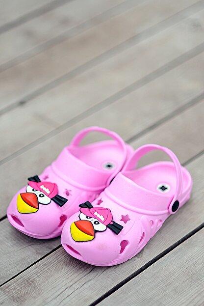 Pembe Potin Çocuk Pembe Sandalet