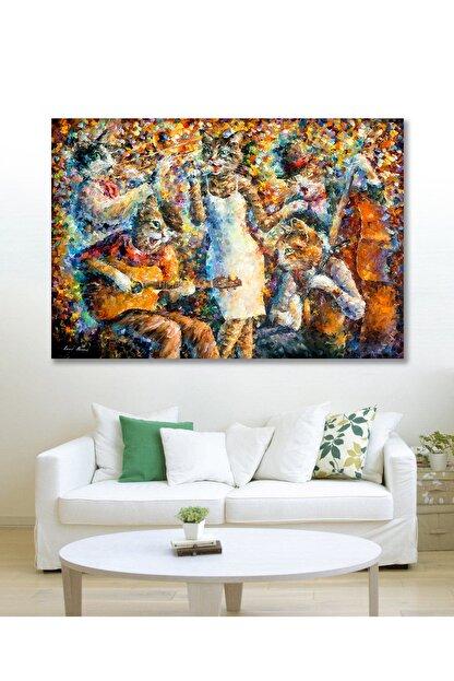 Hediyeler Kapında 90x130 Orkestra Sanatsal Duvar Kanvas Tablo