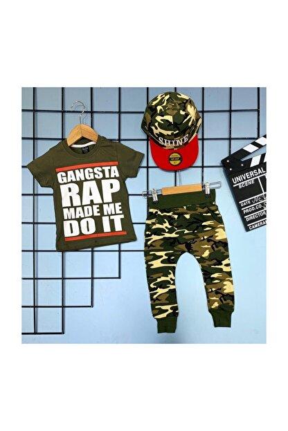 Yelkovan Kids Gangsta Rap Şapkalı Çocuk Takım