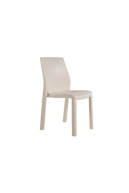 Papatya Mobilya Yummy Sandalye Ivory - Plastik Bahçe Sandalyesi