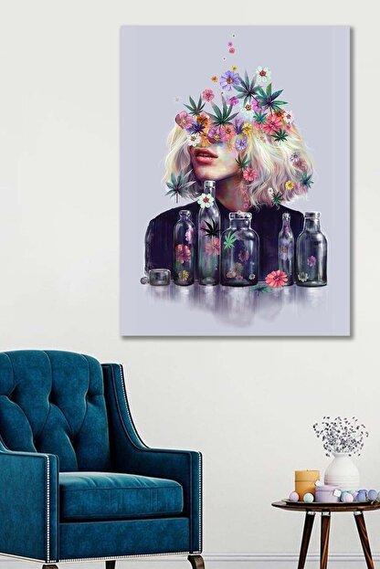Hediyeler Kapında 100x140 Dekoratif Çiçek Duvar Kanvas Tablo