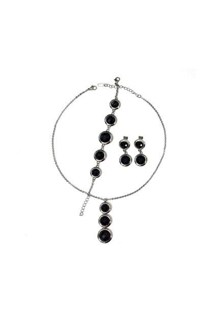 GETSS Kadın Siyah Modern Tasarım Çelik Set Ncs010
