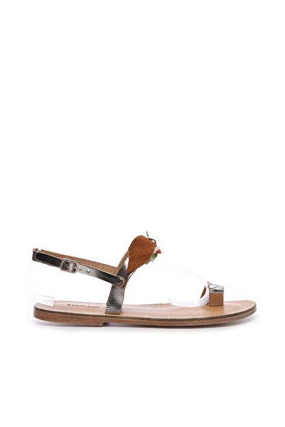 Kemal Tanca Gri Kadın Sandalet Sandalet 607 KB35 BN SNDLT