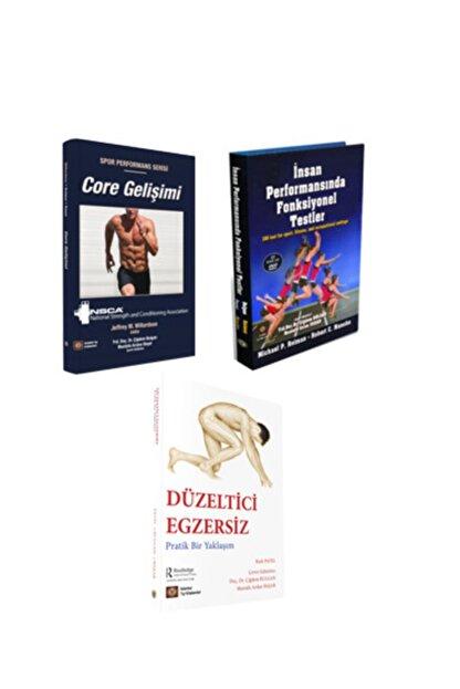 İstanbul Tıp Kitabevi Fizyoterapi 3lü Set : Core Gelişimi + Düzeltici Egzersiz + Insan Performasında Fonksiyonel Testler