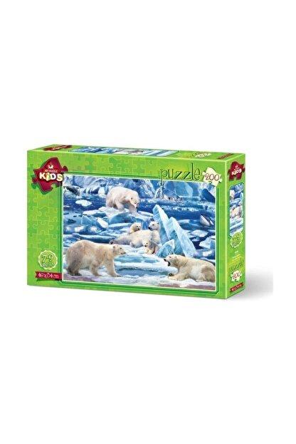Anatolian Puzzle Art Kids 4536 200 Parça Kutup Ayıları Çocuk Puzzle