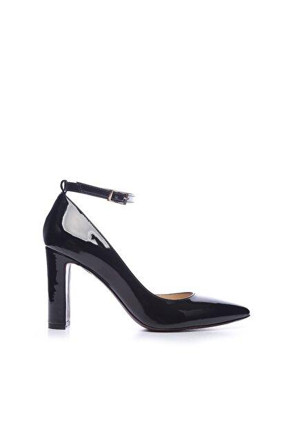 Kemal Tanca Siyah Kadın Vegan Klasik Topuklu Ayakkabı 22 319 BN AYK