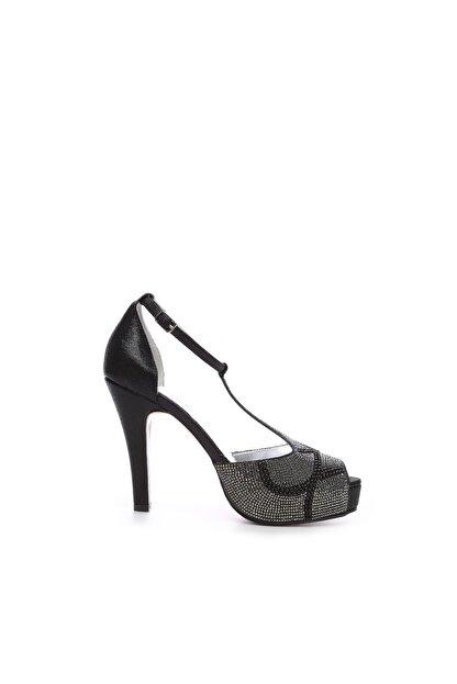 Kemal Tanca Siyah Kadın Vegan Klasik Topuklu Ayakkabı 592 2308 BN AYK