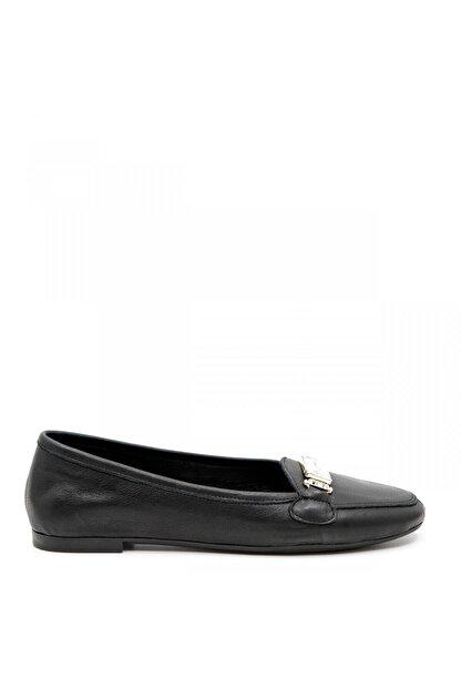 ShoeMaker Siyah Hakiki Deri Taş Toka Detay Kadın Babet
