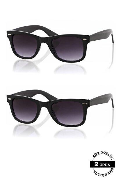 Polo55 Unisex Güneş Siyah Gözlüğü 2'li Ürün