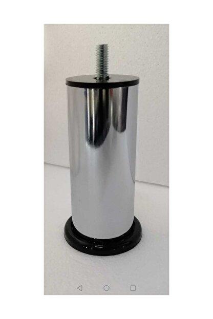 CAM MENFEZCİM 4 Adet 10 Cm Metal Baza Ayağı Vidalı Metal Krom Ayak 10 Cm 10 Metrix