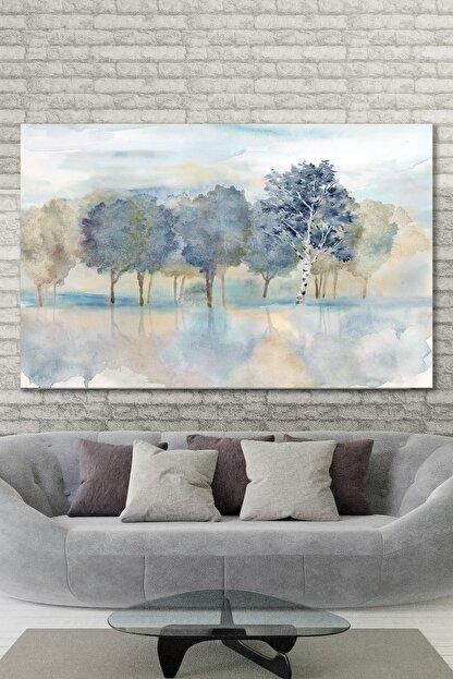 Hediyeler Kapında 90x130 Mavi Painting Duvar Kanvas Tablo