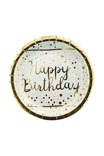 BalonEvi Varak Gold Happy Birthday Tabak