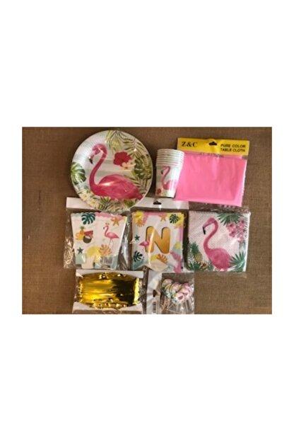 Deniz Party Store Flamingo Temalı Doğum Günü Seti Parti Seti