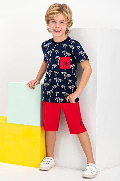US Polo Assn Erkek Çocuk Lacivert  Lisanslı Bermuda Takım Şort & Bermuda