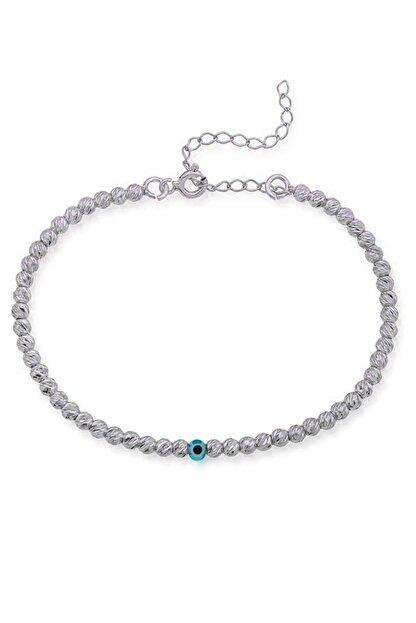 Huarz Gümüş Kadın 925 Ayar Nazarlı Dorika Gümüş Bileklik