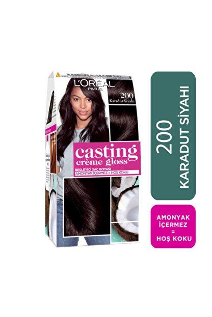 L'Oreal Paris Saç Boyası - Casting Creme Gloss 200 Karadut Siyahı 3600523302895