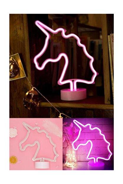 Viselia Unıcorn Görselli Dekoratif Neon Led Masa Ve Gece Lambası
