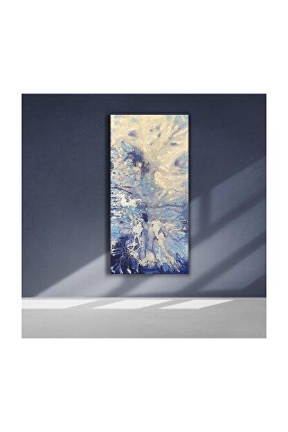 Olga Çerçeve Mavi Modern Yağlı Boya Tablo