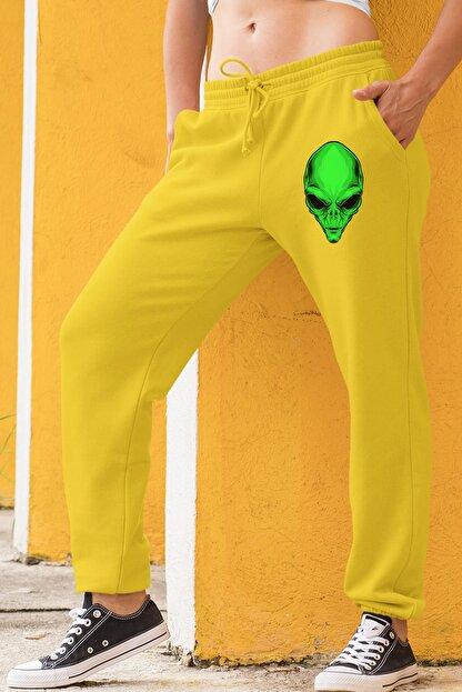 Angemiel Wear Yeşil Uzaylı Sarı Kadın Eşofman Altı