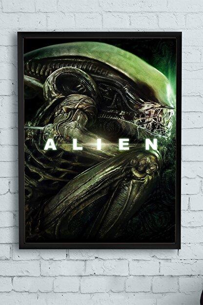 Postermanya Alien Film Afişi Çerçeveli Tablo (50x70cm)