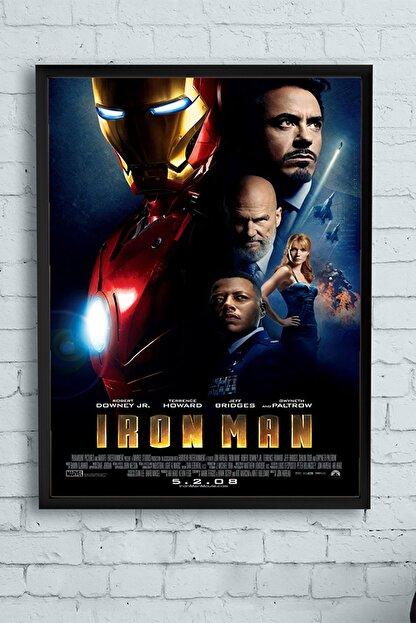 Postermanya Iron Man-demir Adam Film Afişi Çerçeveli Tablo 4 (30 X 40cm)