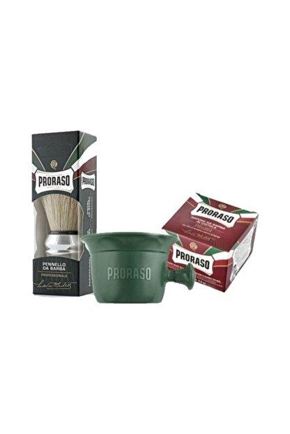 Proraso Sandal Ağacı Ve Shea Butter Özlü 150 ml + Tıraş Kasesi + Tıraş Fırçası