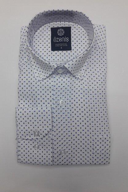 Özeniş Erkek Beyaz Uzun Kollu Regular Fit Gömlek