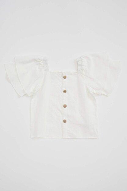 Defacto Kız Çocuk Kısa Kollu Omuzu Açık Bluz
