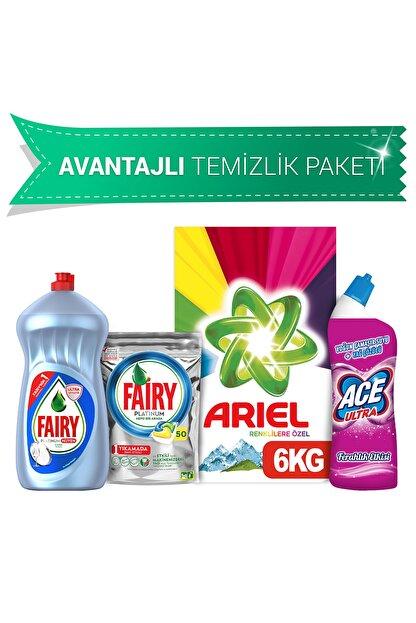 Ariel 6Kg Toz+Fairy 50 Kaps Bul Det+Hijyen 1500Ml+Ace Jel