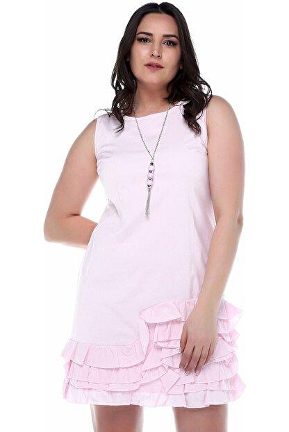 B&S LINE Kadın Etek Ucu Fırfırlı Elbise