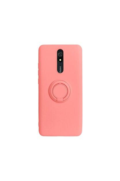 casemarkt Xiaomi Redmi 8a Yüzüklü Standlı Neon Yavruağzı Silikon Telefon Kılıfı