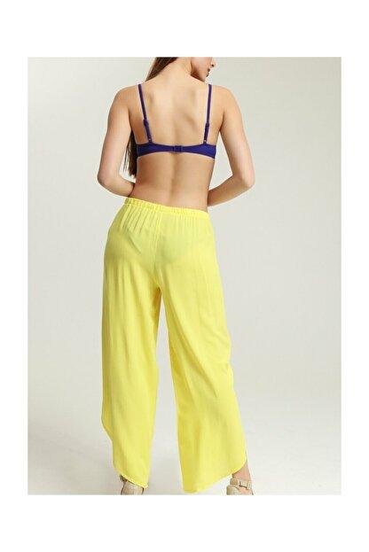 Suwen Kadın Sarı Cuba Pantolon Pareo