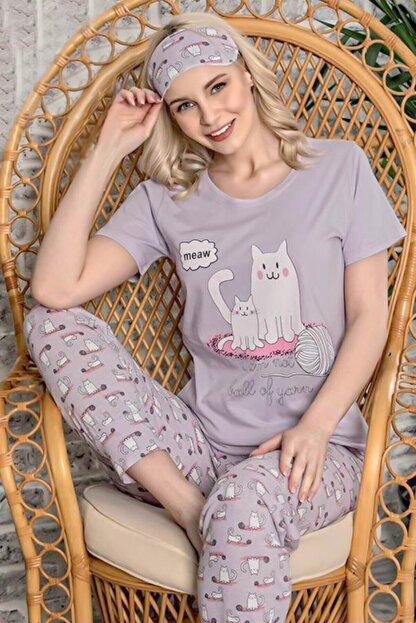 Walkie Serena Lila Kadın Pijama Takımı
