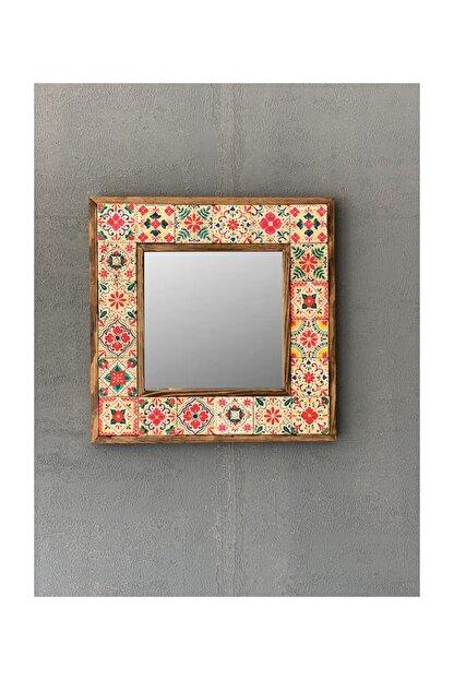 Oscar Stone Decor Çerçeveli Mozaik Doğaltaş Ayna 33 CM X 33 CM