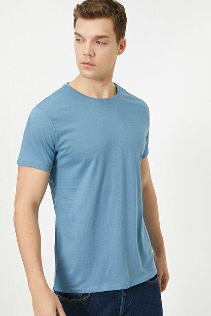 Koton Erkek Mavi T-Shirt 0YAM12136LK