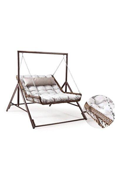 Capri Swing Yatak Salıncak Capri Bed Çiftli Rattan Bahçe Balkon Teras Salıncağı
