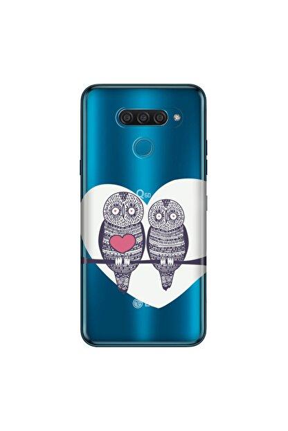 Cekuonline Lg K50s Kılıf Desenli Resimli Hd Silikon Telefon Kabı Kapak - Baykuş Dostlar