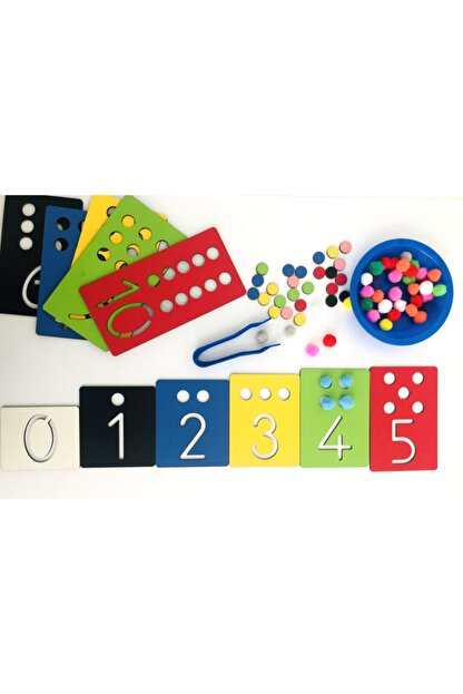 Okhool Montessori Rakam Öğrenme Seti