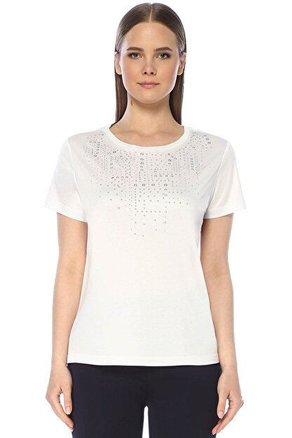 Network Kadın Regular Fit Beyaz Tshirt 1073507