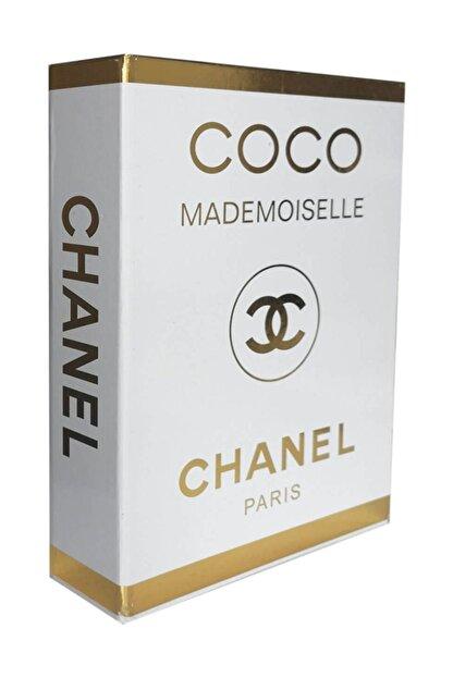 LYN HOME & DECOR Gold Varaklı Coco Mademoıselle Chanel Dekoratif Kutu 27x19x4