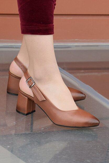 SWELLA Kahverengi Kadın Topuklu Ayakkabı