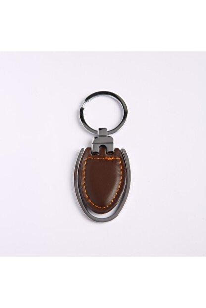 Yenihayat Shoping Kahverengi Deri Çelik Anahtarlık