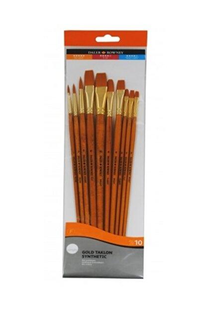 Daler Rowney Gold Taklon Synthetic  Fırça Seti 10`lu