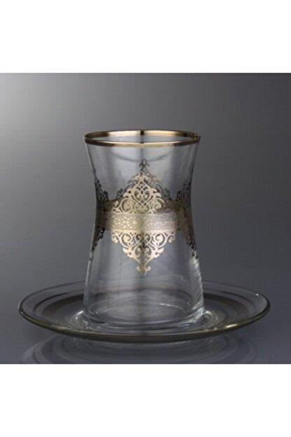 Abka Platin Desenli Çay Bardağı