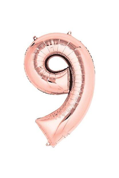 "Deniz Party Store 16 "" Inç Folyo Balon Rose Gold 9 Rakamı"
