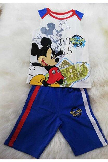 DİSNEY Mıckey Mause Disney Lisanslı Orjinal Erkek Çocuk Yazlık Pijama Takımı
